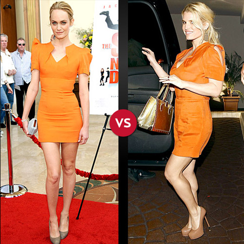 Amber Valletta vs. Jessica Simpson