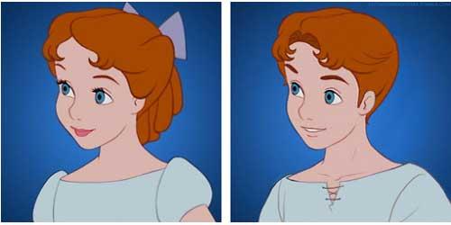 Wendy của Peter Pan từ một cô bé dễ thương trở thành một cậu bé kháu khỉnh