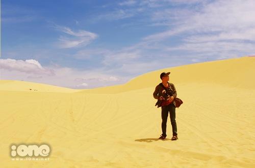 Vẻ đẹp mênh mông ở những đồi cát dài.