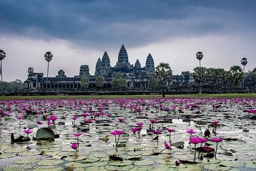 Angkor Wat thuộc tỉnh Xiêm Riệp, Campuchia là di tích được xem như tuyệt đỉnh của nghệ thuật và kiến trúc Khmer.