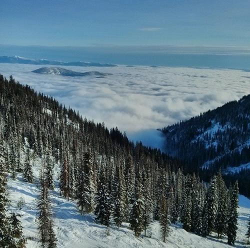 British Columbia (hay còn gọi là Columbia thuộc Anh) là một tỉnh cực tây của Canada, nơi có nhiều núi nhất khu vực Bắc Mỹ. Rừng thông trên đỉnh núi Robson quanh năm trắng xóa màu của tuyết và mây xen lẫn vào nhau.