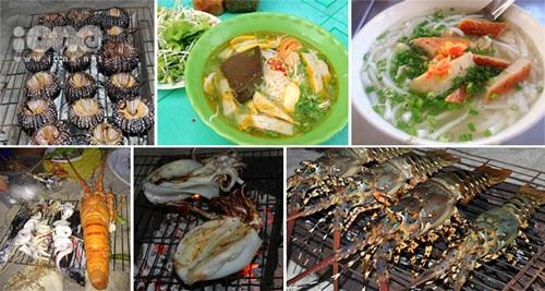 Các món ăn được chế biển từ hải sản tươi ngon đầy hấp dẫn sẽ khiến teen ngạc nhiên bởi mức giá quá rẻ đấy.