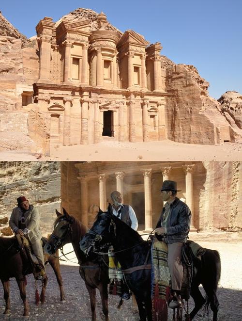 Thành phố cổ Petra nằm ở phía tây nam đất nước Jordan là bối cảnh chính của seri phim Indiana Jones do diễn viên gạo cội Harrison Ford thủ vai.