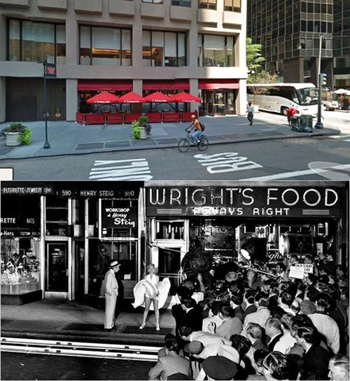 Số 586 Đại lộ Lexington, New York (Mỹ) là nơi thực hiện cảnh quay kinh điển của điện ảnh thế giới: nàng Marylin Monroe bị tốc chiếc váy trắng gợi cảm.