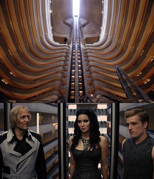 Khách sạn Marriott Marquis nằm ở thành phố Atlanta, Mỹ xuất hiện trong bộ phim khoa học viễn tưởng The Hunger Games: Catching Fire được sản xuất năm 2013.
