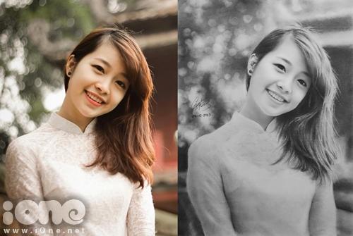 Hình ảnh thiếu nữ mặc áo dài trắng đứng cạnh Khuê Văn Các là một trong số những bức tranh khiến nhiều người nghi vấn Sơn Tùng đã dùng phần mềm chỉnh sửa ảnh để thực hiện.
