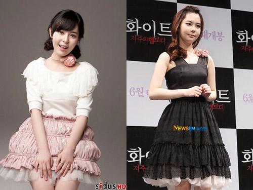 Khán giả khó lòng còn nhận ra một Choi Ah Ra xinh xắn ở tuổi 16 với gương mặt sưng phồng như ở ảnh phải.