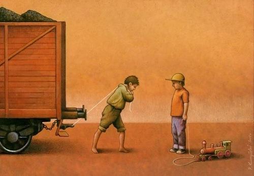 Tuổi thơ đối nghịch của những đứa trẻ.
