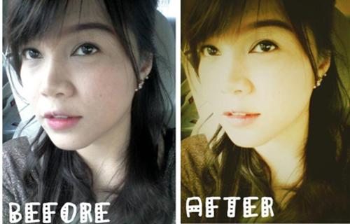 [Caption]Màu ảnh thay đổi không chỉ giúp người mẫu đẹp lên mà còn làm bức ảnh nghệ thuật hơn rất nhiều