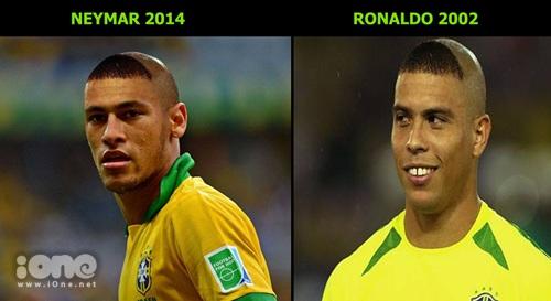Kiểu đầu giống thì trên sân cỏ cũng vậy nhe Neymar.
