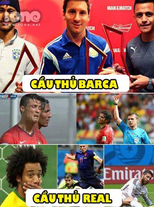 Ai dám kêu Barca đá không bằng Real Madrid.