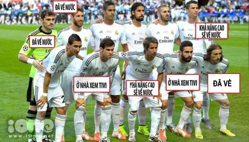 Đây là đôi hình vô địch hay là đội hình coi World Cup qua tivi.