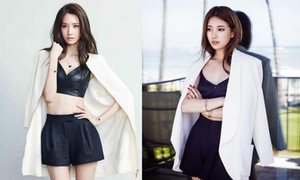 Yoon Ah, Suzy đụng set đồ y hệt