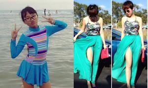Facebook sao 1/7: Phương Mỹ Chi kín mít đi bơi, Tóc Tiên vén váy khoe chân