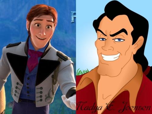 Nhân vật Hans trong phim Frozen và Gaston trong Beauty and the Beast là hai nhân vật phản diện trẻ nhất trong các nhân vật hoạt hình của Disney.
