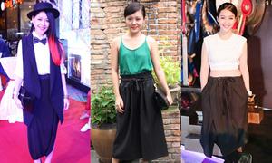 Sao Việt thi nhau diện quần lùng bùng, giấu dáng