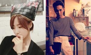 Sao Hàn 26/7: Eun Jung đội túi lên đầu, Key mặc đồ lả lướt