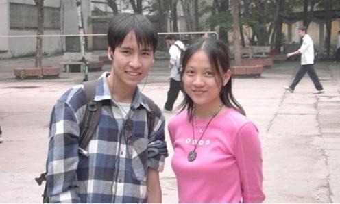 Bức ảnh kỷ niệm ngày còn đi học giữa Anh Thư và Toàn Shinoda. Ảnh: FB.