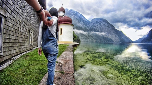 Hồ Konigsee, huyện Berchtesgaden, Đức.