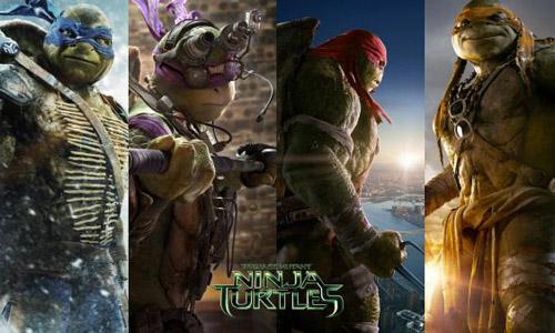 4 chú rùa ninja thân thiện, đáng yêu gồm Leonardo, Donatello, Raphael và Michelangelo