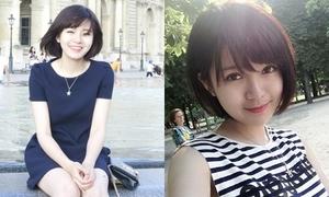 Nữ sinh Việt khoe nụ cười đẹp ngất ngây trên đất Pháp