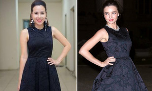 Lưu Hương Giang đụng váy 6 triệu đồng với Miranda Kerr