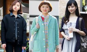 Trang phục đến trường khác biệt của ét-vê Hàn, Nhật, Việt