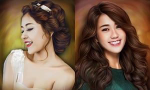 Hot girl Việt đẹp lung linh qua nét vẽ photoshop
