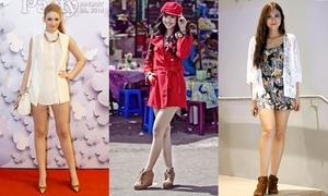 Bật mí chiều cao đáng nể của 6 hot girls Việt