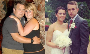 Cặp đôi giảm 60kg để lột xác trước ngày cưới