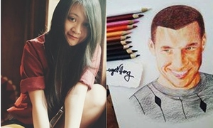 Tranh fan Việt vẽ tặng được sao Arsenal đặt làm avatar