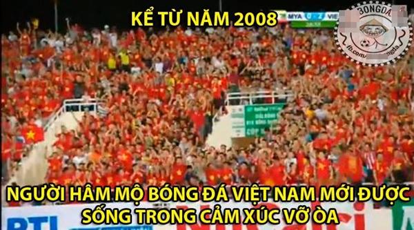 Đây là phút giây từ lâu rồi người hâm mộ bóng đá Việt Nam mới có lại được.