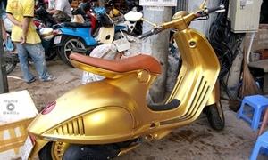 Xe tay ga đắt nhất Việt Nam được mạ vàng gây choáng ngợp