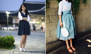 Giới trẻ Hàn biến tấu Hanbok trẻ trung, đáng yêu