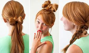 3 kiểu tóc kết hợp nơ xinh xinh