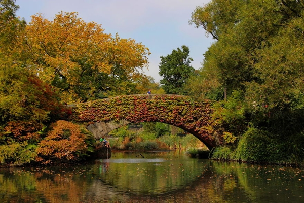 Cây cầu nổi tiếng Gapstow ở thành phố New York (Mỹ).