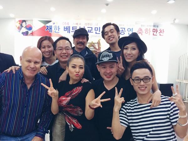 Đầu tháng 10, Thu Minh và đoàn nghệ sĩ Việt Nam bao gồm học trò Trúc Nhân, Trang Pháp đã có buổi lưu diễn tại Hàn Quốc trong sự kiệnĐây là đêm diễn quan trọng trong chuỗi các hoạt động kỷ niệm 22 năm quan hệ hữu nghị Việt - Hàn diễn ra tại Hàn Quốc.