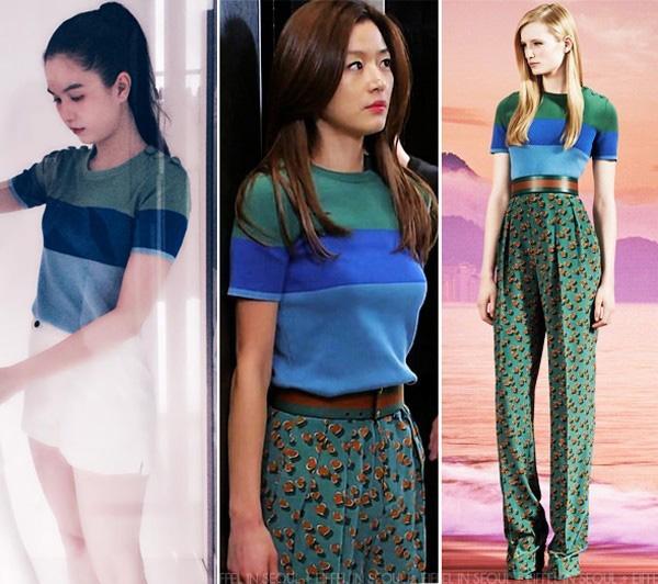 Dù bị nghi diện áo nhái của Gucci, Ngọc Trinh khéo léo kết hợp quần shorts ngắn, trông trẻ trung hơn hẳnJun Ji Hyun.