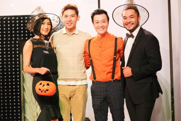 Mới đây, diễn viên Katy Uyên, siêu mẫu Minh Trung và ảo thuật gia Petey Nguyễn có dịp tham gia chương trình Vui sống mỗi ngày số dành cho ngày Halloween. Diễn viên Lương Mạnh Hải đảm nhận vai trò MC chương trình.