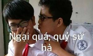 Ảnh chế 'troll' bạn bè cười té ghế của teen Trần Đại Nghĩa