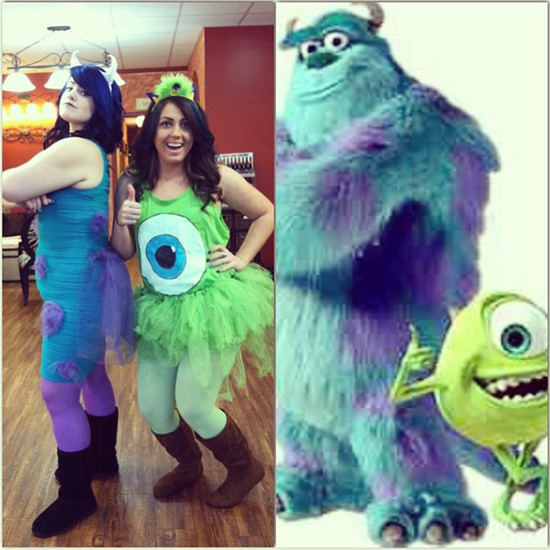 Sully and Mike from Monster's Inc.