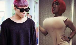 Sao Việt 21/10: Sơn Tùng nhuộm tóc tím, Trấn Thành 'ngực tấn công'