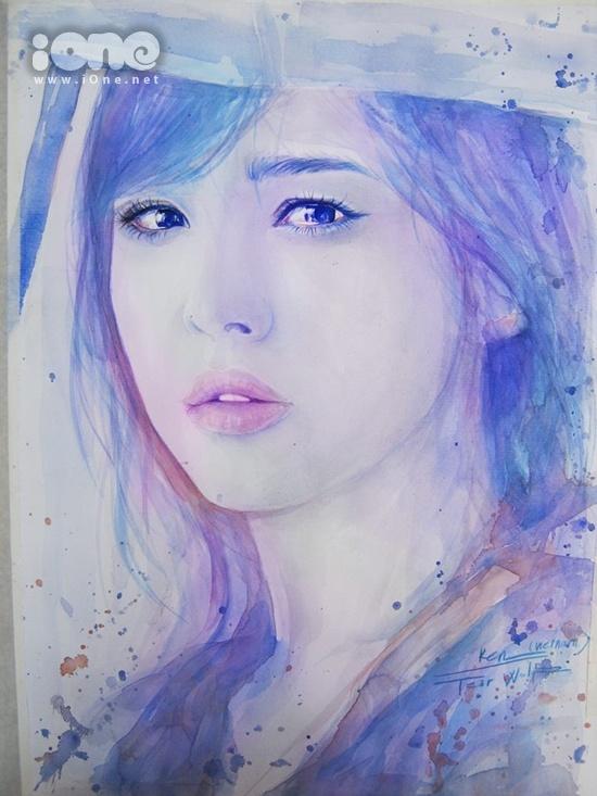 Bức vẽ kiều nữ xứ Hàn Song Hye Kyo.