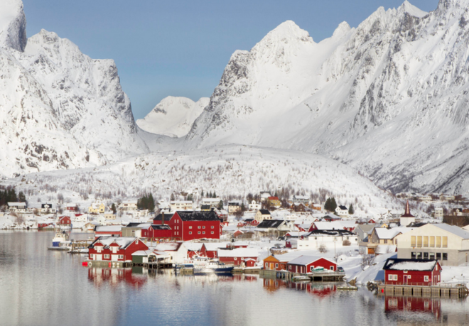 Ngắm những thị trấn phủ tuyết trắng xóa đẹp như cổ tích