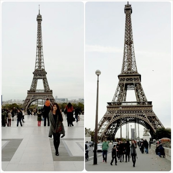 một lần đi Pháp, hot girl Ngọc Thảo đã ghé thăm tháp Eiffel và cây cầu khóa tình yêu Paris. Đây có lẽ là 2 địa điểm cực kỳ nổi tiếng trên toàn thế giới, thậm chí còn trở thành biểu tượng của đất nước Pháp hoa lệ. Dĩ nhiên là nàng hot girl không quên pose hình tại đây. Dù ăn mặc khá giản dị và trang điểm nhạt nhưng Ngọc Thảo vẫn cực kỳ xinh đẹp bên cạnh những địa danh nổi tiếng này.