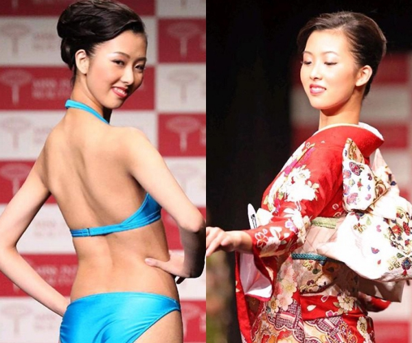 Dáng người gầy gò,nụ cười hở lợi là điểm trừ về nhan sắc của chân dài 18 tuổi.Nakagawa nhận nhiều chỉ tríchkhông xứng đáng để lên ngôi trong cuộc thi nhan sắc.