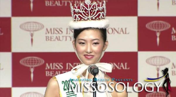 Cuộc thi Hoa hậu Quốc tế Nhật Bản 2015 khép lại vào tối 4/11 với chiến thắng thuộc về người đẹp Nakagawa Arisa.