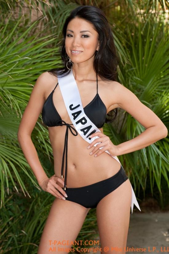 Hoa hậu Hoàn vũ Nhật 2010 -Maiko Itaicó gương mặt mệt mỏi, kém sắc.