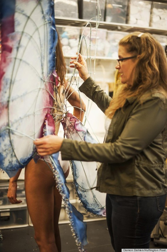 """""""It takes about a week just to make the frame [but] for a more intricate wing it takes much longer. For something beaded, for example, we have an entire team just working on that part of it,"""" Killer says."""