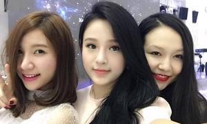 Bộ ba hot girl mừng đầy tháng con trai ca sĩ Tuấn Hưng